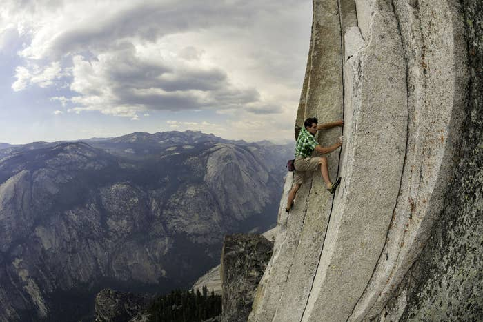 Alex Honnold had the courage to drop out of Berkley at 19, to pursue free climbing. On rope free climbs, he has broken a number of speed records, including a free climb of Salathé Wall, and a 2h23m speed record on the Nose of El Capitan with Hans Florine.