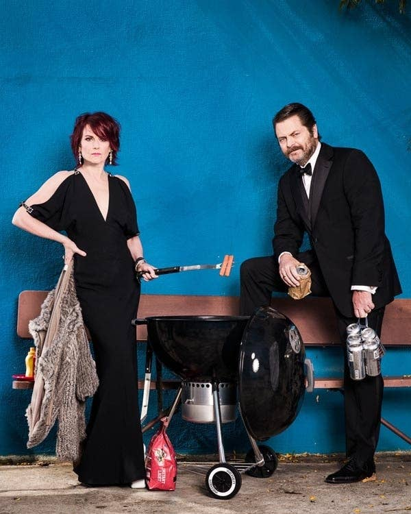 Karen Walker and Ron Swanson I CAN DIG IT.