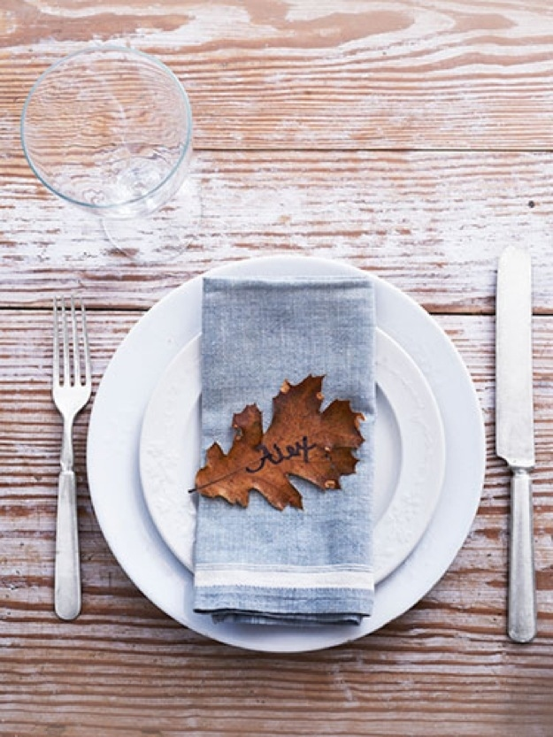 Cute and clever ways to decorate for thanksgiving