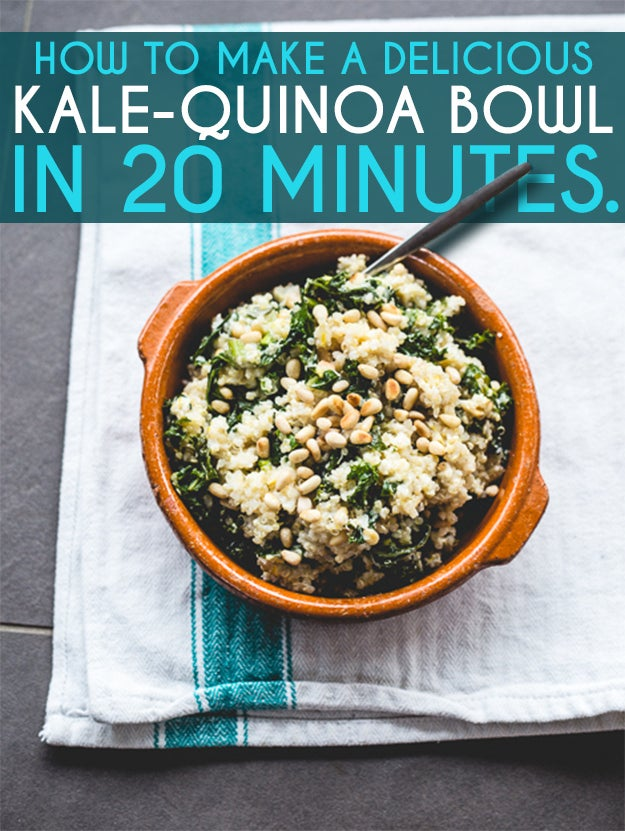 How To Make A Delicious Kale Quinoa Bowl In 20 Minutes