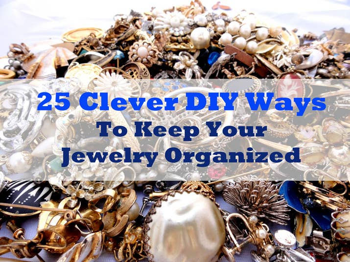 25 clever diy ways to keep your jewelry organized share on facebook share solutioingenieria Choice Image
