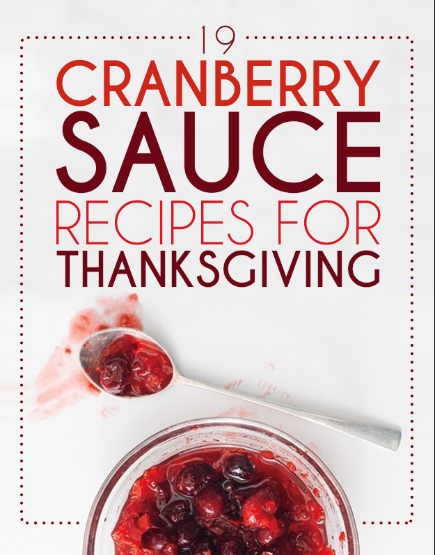 Canned cranberry sauce recipes