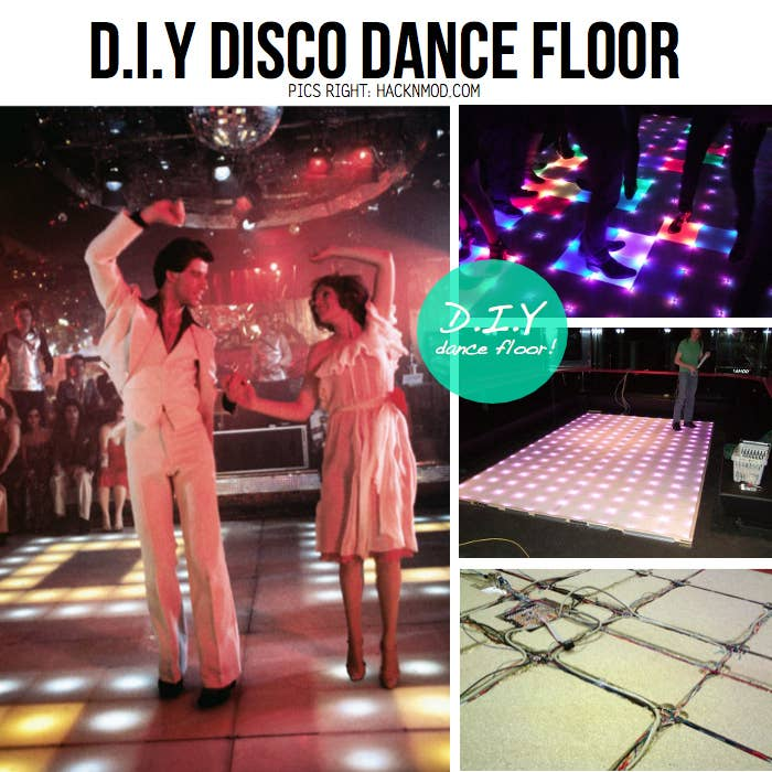 How to throw the most epic dance party ever build your own light up disco floor if youre handy solutioingenieria Image collections