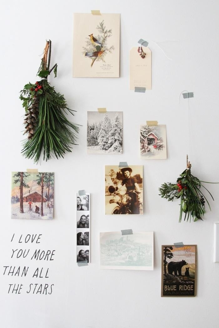 Even if you don't have much floor space, chances are you still have walls. Find out how to make the little boughs here.