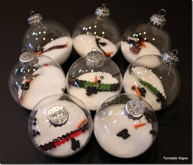 39 ways to decorate a glass ornament melted snowman ornaments solutioingenieria Images