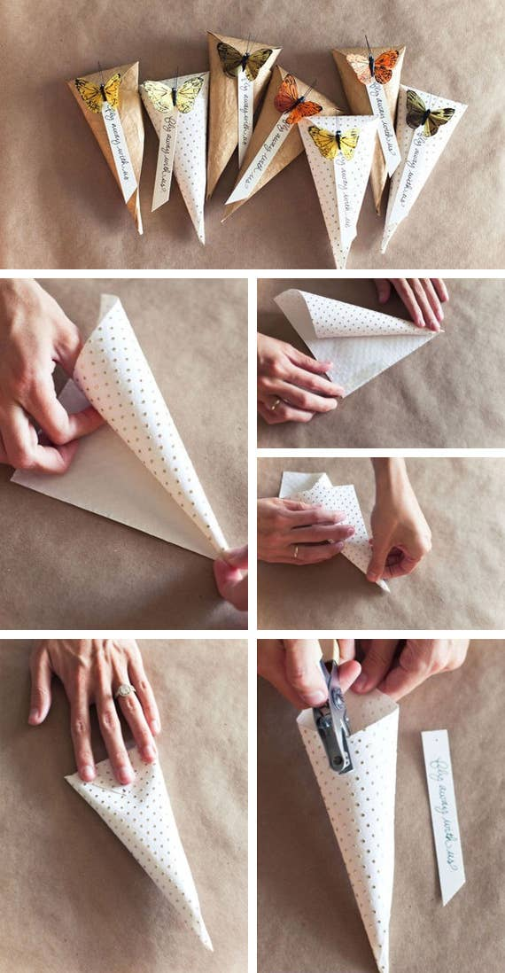 All you need is some pretty paper and a hole puncher.
