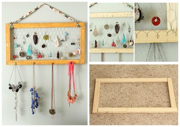 25 maneras inteligentes de organizar tus joyas haci ndolo - Como colgar collares ...