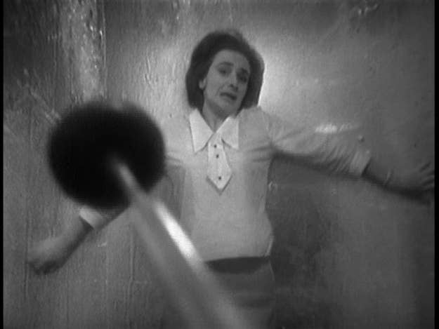 """The first ever episode of Doctor Who, An Unearthly Child, aired on 23 November 1963, but the following three episodes which made up the story had failed to thrill with their unconvincingly bewigged cavemen and ponderous dialogue. The next serial, which began airing just before Christmas, would be the one which cemented the show into the instant hit it became. The Daleks* is still a little rough round the edges; its """"outdoor"""" scenes too clearly indoors and some of the dialogue still rather stilted, but the seeds are clearly there; the Daleks' outlandish appearance and memorable voices was like nothing that had been seen on TV before, and although the series had begun with its creator stating there would be """"no bug-eyed monsters"""", it was clear that the Daleks were immensely popular.Key scene: Menaced by a bathroom plunger, Jacqueline Hill gives it her all as Barbara.*(Geek note - at this point, like presently, episodes were given individual titles and there's no """"official"""" name for the story as a whole, so you'll also see this one as The Dead Planet and The Mutants)"""