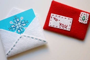 Homemade gift card holders christmas