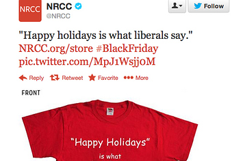 NRCC's Happy Holidays Is What Liberals Say Shirt Removed From Website