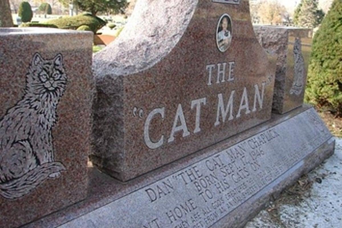 "The Glorious Future Gravestone Of Chicago's ""Cat Man"""