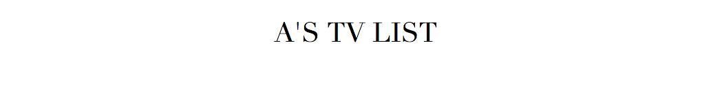 A's Lists