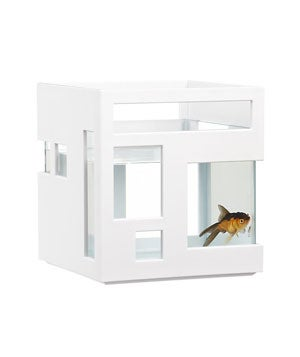 Where to get it: Crate & BarrelCost: $30Why your pet needs it: Hello! It's a fish hotel! Your fish will love the permanent vacation this cool tank offers them!