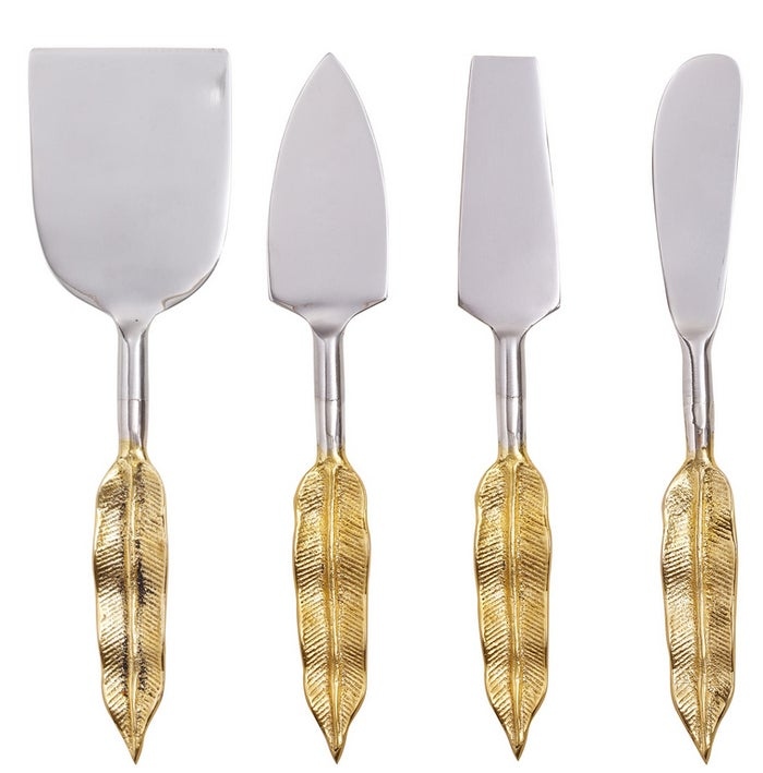 Why must there be different knives for different cheeses? No clue. Most people would be just fine with the knife that gets the cheese the fastest. But no, not you. Set of four cheese knives, $35.28 at Oliver Bonas.