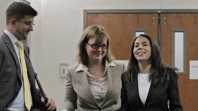 Fox News reporter Jana Winter (right)