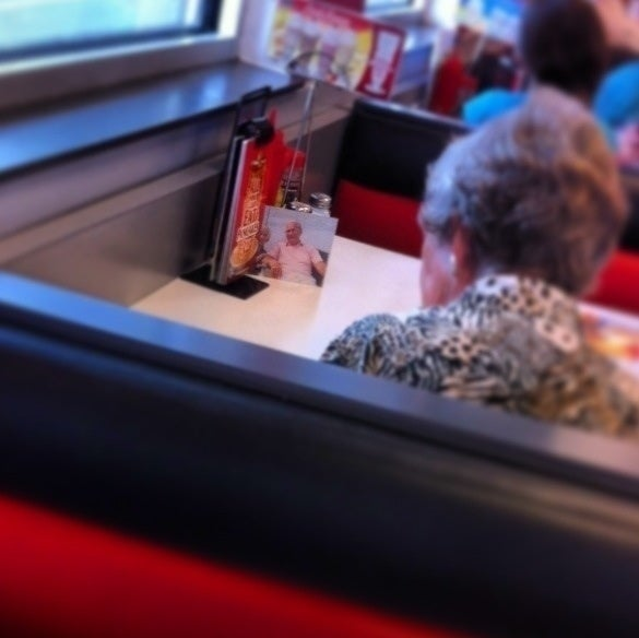 This woman never misses lunch with her husband.
