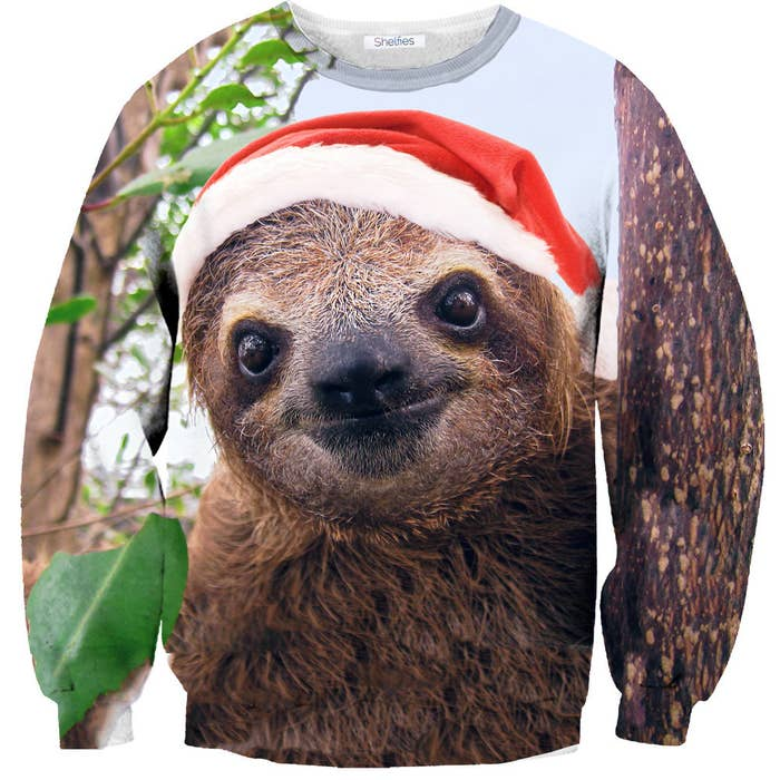 If you're looking to win a prize at the Ugly Christmas Sweater Party, then don't wear this, as that would be offensive to our fellow mammal friends.