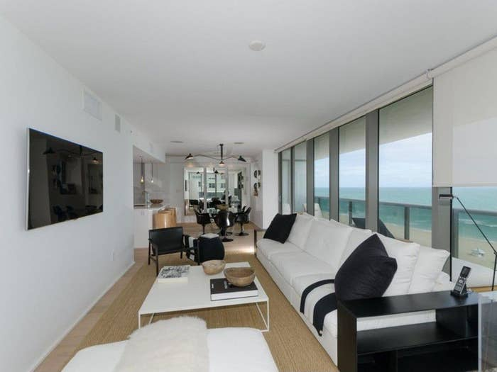 """Alex Rodriguez is in the middle of one of sports' biggest legal battles, but he still had time to buy and, now, list an apartment in Miami.This summer, Major League Baseball suspended the perennial All-Star and occasional MVP for 211 games due to A-Rod's alleged association with a Florida clinic where performance-enhancing drugs were sold. A-Rod is fighting back with a counter lawsuit, which is scheduled to go to trial in New York in February.However, while he waits to battle MLB """"destroying his reputation, ruining his endorsement deals and making it impossible for him to finish his Yankees contract"""" Rodriguez has re-listed the Miami condo he bought this past summer. The price is $3.2 million, just about $1 million more than he paid before renovating the unit. The real estate market is pretty strong in Miami Beach; the median home price is $339,300 and there are over 3,500 homes currently on the market. The condo is in the Mei Building on Millionaire's Row in Miami Beach at 5875 Collins Ave. The place is loaded with amenities, including an enormous fitness center, spa, infinity pool, 24-hour concierge and valet parking. A-Rod's unit 3 bedrooms and 4 baths on a 1,725-square-foot floor plan. Wraparound balconies have views of the ocean."""