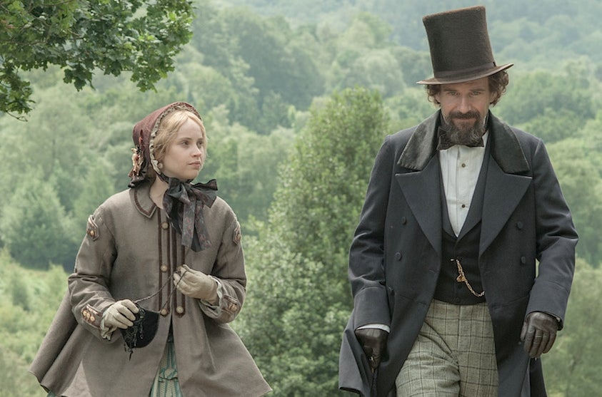 Felicity Jones and Ralph Fiennes in The Invisible Woman