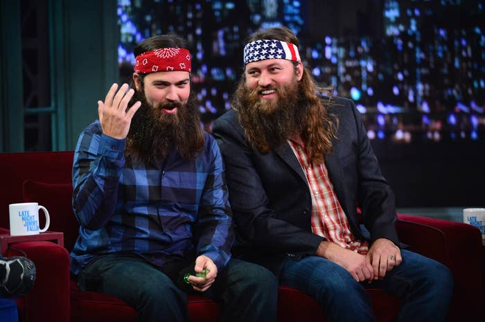 Jase Robertson and Willie Robertson of A&E's Duck Dynasty.