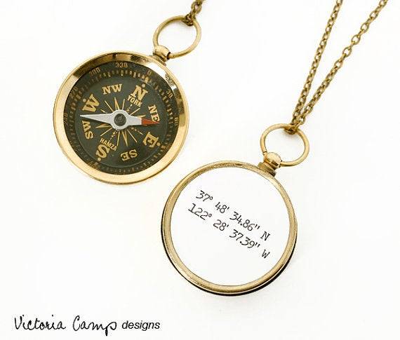 This working compass necklace will never steer you wrong. Plus, you can customize it with any coordinates you want! Find it here for $36.