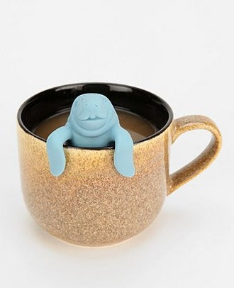 "Yes, you can simply dunk your teabag or use a boring old infuser, but why not take the opportunity to say, ""Hello, Mr. Manatee! Is my tea ready?"" every time you have a cup?Manatea tea infuser, $14 at Urban Outfitters."