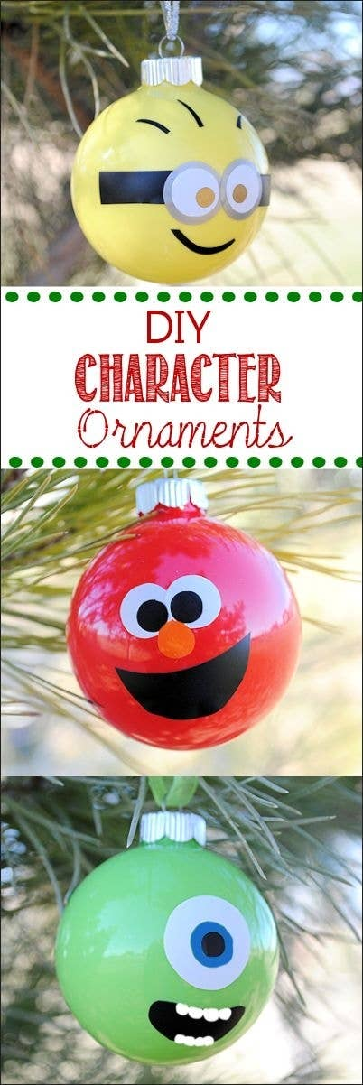 36 adorable diy ornaments you can make with the kids glass ball character ornaments solutioingenieria Gallery