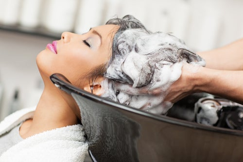 Sulfates (sodium laureth sulfate and ammonium laureth sulfate) are industrial-strength cleaning ingredients that you should avoid at all costs in your shampoo, especially if your hair is color treated. You'll be washing your $200 dye job down the drain.