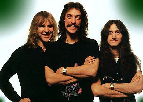The band's signature lineup includes guitarist Alex Lifeson, vocalist/bassist Geddy Lee, and drummer Neil Peart. Together, they've developed a fearsome style over the years, with a knack for howling vocals, tricky time signatures, and busy solos.