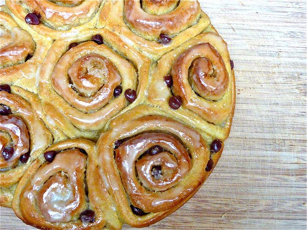 These are not your run-of-the-mill cinnamon rolls. The rolls are moist and soft and the pumpkin and spices add welcome complexity. The maple, orange and powdered sugar glaze is the proverbial icing on the cake. Get the recipe at Food52.