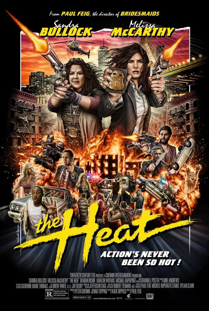 The actual posters for The Heat are less than thrilling — and the U.K. version is downright horrifying. But this variant poster commissioned by Mondo is exactly the kind of over-the-top throwback image that should have been selling the film all along. Why throw together a forgettable jumble of Photoshopped images when you can make something dorm-room-wall-worthy like this?