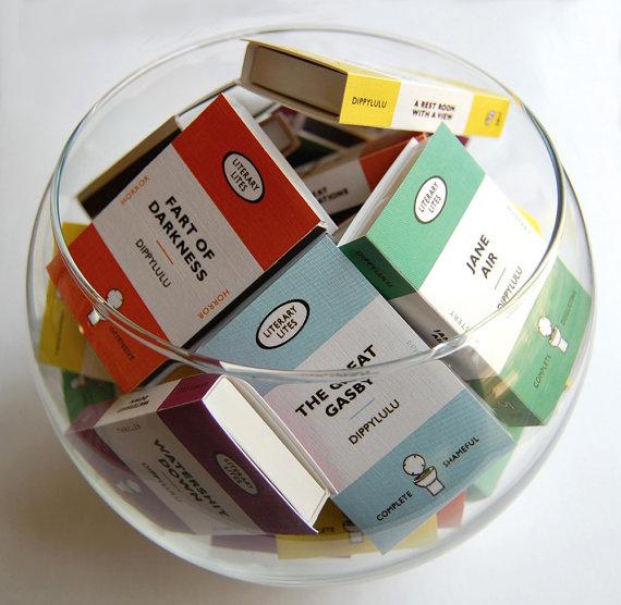 Caixas de fósforo inspiradas nos clássicos da Penguin