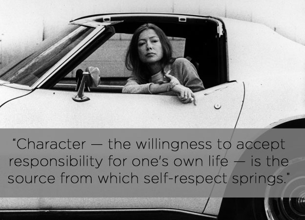"didion on self respect essay The below paper is a rhetorical analysis of joan didion's 1961 essay ""on self-respect"" from vogue (."