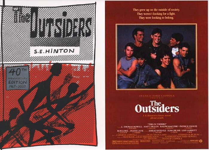 """The 1983 movie based on the 1967 novel by S.E. Hinton (who you should follow on Twitter) is a reasonably faithful adaptation. Some characters were cut and the ones who remained don't all look as they're described in the book, but that isn't very surprising. There are other differences, too, but what's interesting is the fact that director Francis Ford Coppola released a """"complete novel"""" version of the movie in 2009. The Outsiders: The Complete Novel contains extra scenes (previously deleted) that seek to align the movie even more closely with the book. The film had to be re-rated PG-13 as a result of the additions."""