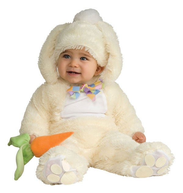 Those bunny and bear suits are frequently toastier than sweaters and jackets... and cute as the dickens, too.