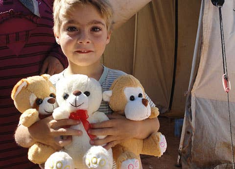 Think about a gift from our online catalog that can give Syrian refugee children comfort and a sense of security in the midst of upheaval – like their own teddy bear to hold tight. You don't even need to leave your couch to do it.