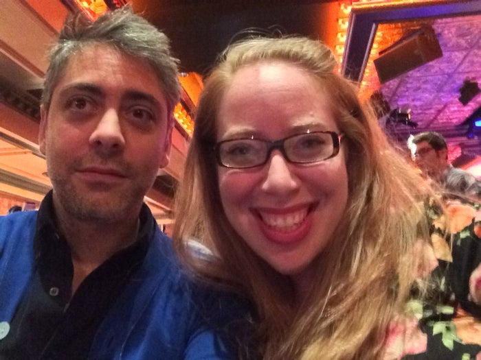 Smash Season 2 showrunner Josh Safran and 54 Below director of programming Jennifer Tepper in a selfie taken for BuzzFeed.