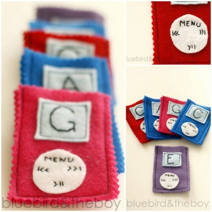 Everyone loves an iTunes gift card, and this is the coolest way we've seen to present them. Get the tutorial for this quick and cute felt sleeve here.