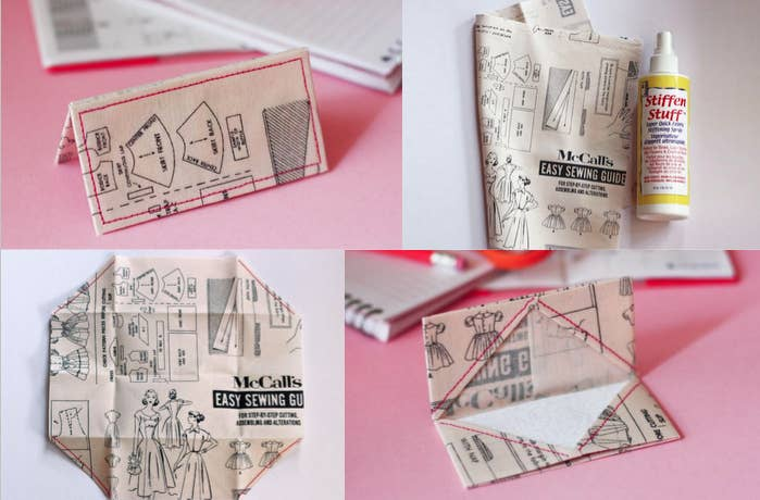 24 cute and clever ways to give a gift card fabric origami card holder you can use any sort of quirky fabric so they can reuse it as a business reheart Image collections