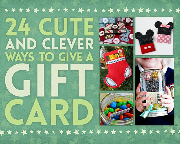 24 Cute And Clever Ways To Give A Gift Card