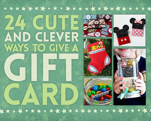 24 cute and clever ways to give a gift card share on facebook share negle Images