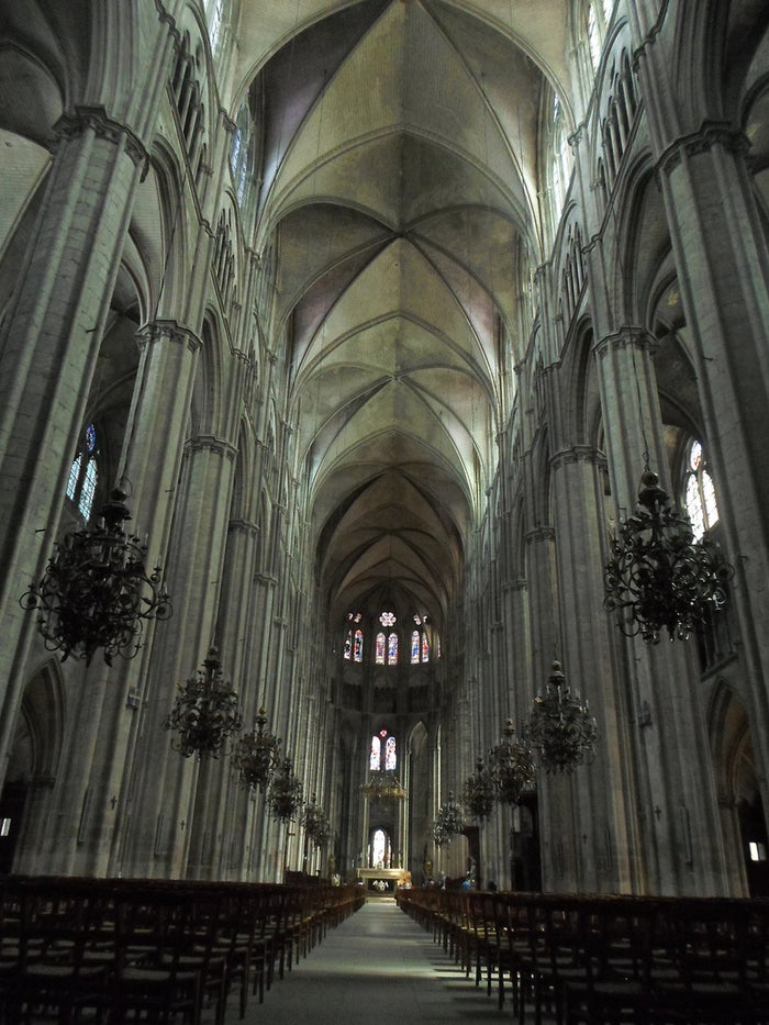 Imagine walking into a building that soars 38m (125 feet) above you, with an endless nave flanked by two correspondingly smaller vaults to either side. What do you do? You take a seat and let your mouth hang open, transfixed by this 800 year old marvel of epic geometry.
