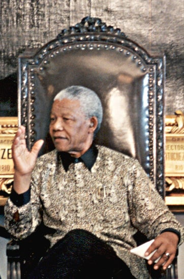 """""""The universal struggle against apartheid was not an act of charity arising out of pity for our people, but an affirmation of our common humanity."""""""