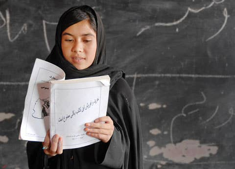 Let them know you care about what's happening in the world, too, by giving them a Rescue Gift from the International Rescue Committee that can send a young Afghan girl to school for a year, ($56), giving her a chance at a better, more fulfilled life.