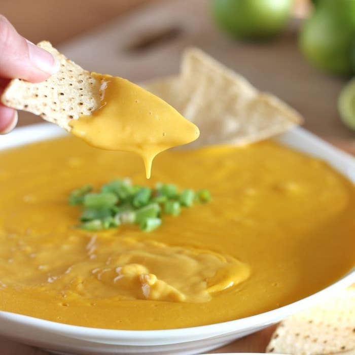 With this easy recipe all you need is nutritional yeast, potatoes, carrots, olive oil, lemon juice, and salt to create an amazing, vegan nacho cheese sauce.