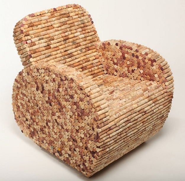 You can make a chair out of wine corks!