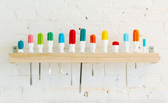 Remember that mess of screwdrivers under your sink? Yeah. Remember the last time you used them? Probably not. Give your coats, hats, scarves, ties, etc a real home with a cool, inexpensive DIY option.