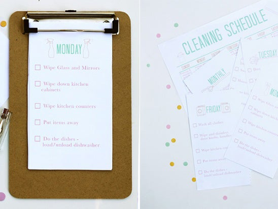 Nothing feels better than taking pen to paper and crossing something off of your massive to-do list. Printable day-of-the-week options will help you stay on track and are way cuter than your standard college ruled notebook.