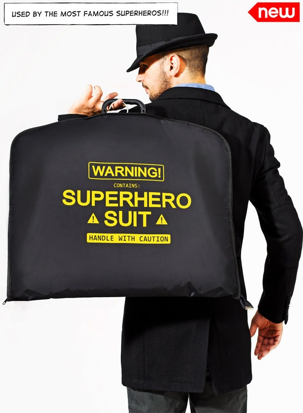 Even superheroes have to deal with wrinkles. Get your super garment bag here for roughly $32.