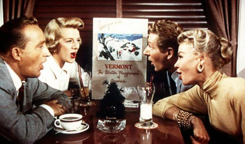 8 the song snow sung in the scene shown here was written by irving berlin but was originally called free and had nothing to do with snow - Actors In White Christmas
